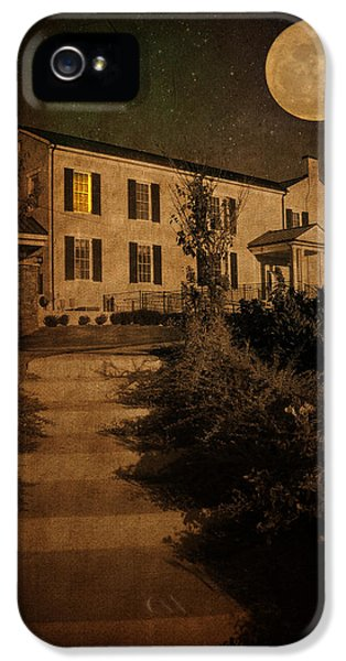 Moon iPhone 5 Cases - Beneath the Perigree Moon iPhone 5 Case by Amy Tyler