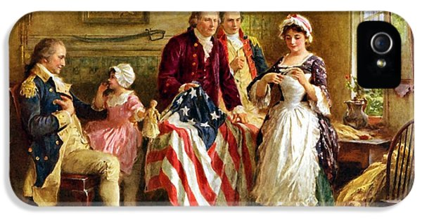 American Flag iPhone 5 Cases - Betsy Ross and General George Washington iPhone 5 Case by War Is Hell Store