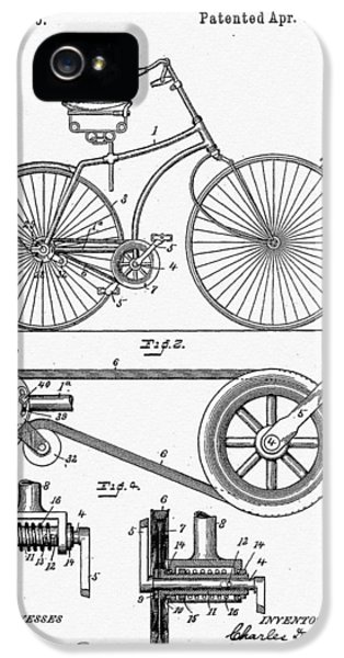 Patent iPhone 5 Cases - Bicycle Patent 1890 iPhone 5 Case by Bill Cannon