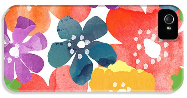 Big Bright Flowers IPhone 5 / 5s Case by Linda Woods