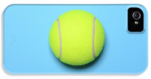 Big Tennis Ball On Blue Background - Trendy Minimal Design Top V IPhone 5 / 5s Case by Aleksandar Mijatovic