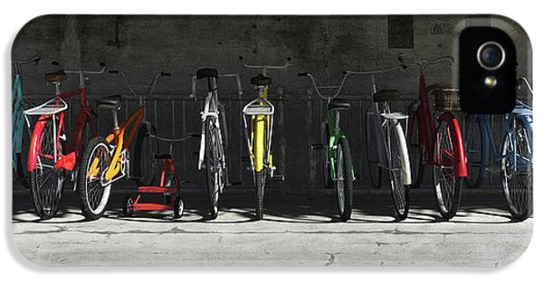 Spectrum iPhone 5 Cases - Bike Rack iPhone 5 Case by Cynthia Decker