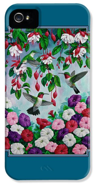 Bird Painting - Hummingbird Heaven IPhone 5 / 5s Case by Crista Forest