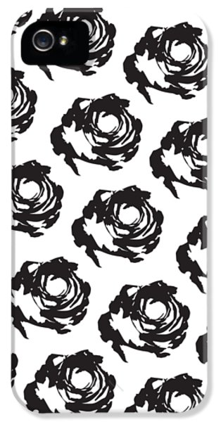 Black Rose Pattern IPhone 5 / 5s Case by Cortney Herron