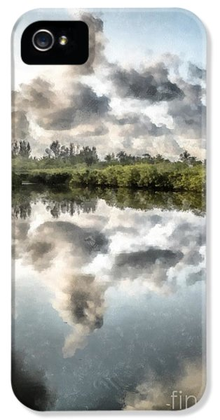 Bayou iPhone 5 Cases - Blind Pass Bayou Sanibel Island Florida iPhone 5 Case by Edward Fielding