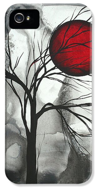 Gray iPhone 5 Cases - Blood of the Moon 2 by MADART iPhone 5 Case by Megan Duncanson