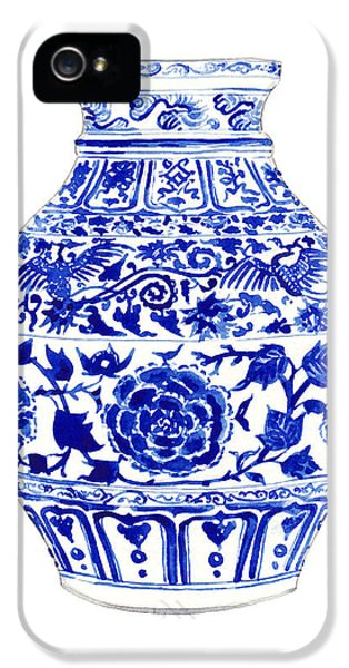 Blue And White Ginger Jar Chinoiserie 4 IPhone 5 / 5s Case by Laura Row