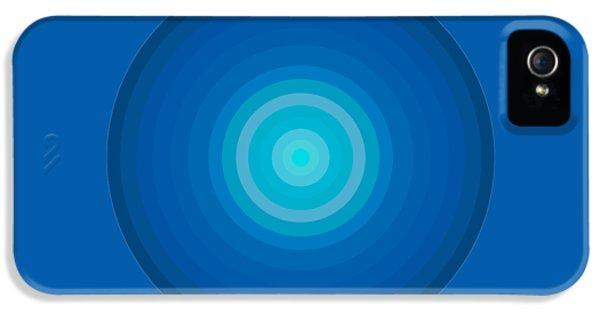 Blue Circles IPhone 5 / 5s Case by Frank Tschakert