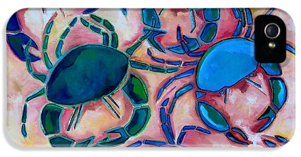 Blue Crab iPhone 5 Cases - Blue Crabs iPhone 5 Case by Patti Schermerhorn
