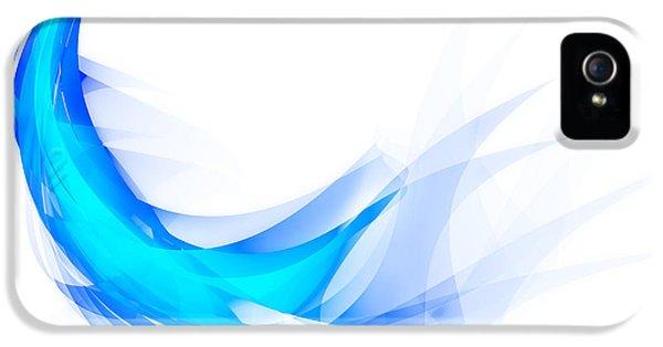 Scifi iPhone 5 Cases - Blue Feather iPhone 5 Case by Setsiri Silapasuwanchai
