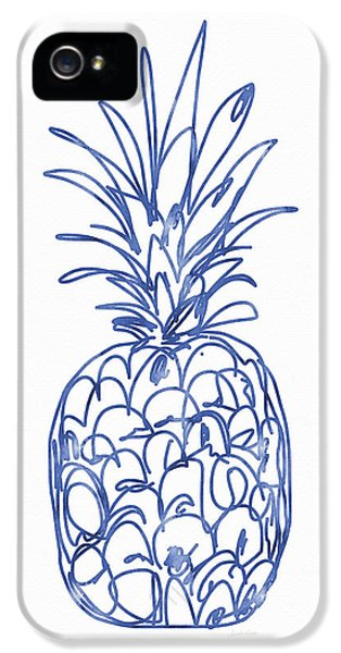 Blue Pineapple- Art By Linda Woods IPhone 5 / 5s Case by Linda Woods