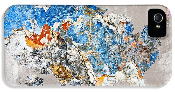Environment Concept Art iPhone 5 Cases - Blue street art US map iPhone 5 Case by Delphimages Photo Creations