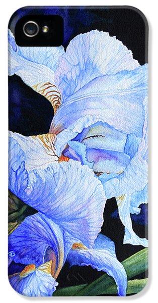 Blue Summer Iris IPhone 5 / 5s Case by Hanne Lore Koehler
