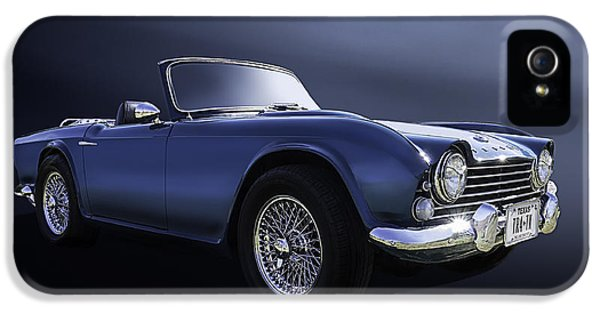 Roadsters iPhone 5 Cases - Blue TR4 iPhone 5 Case by Douglas Pittman