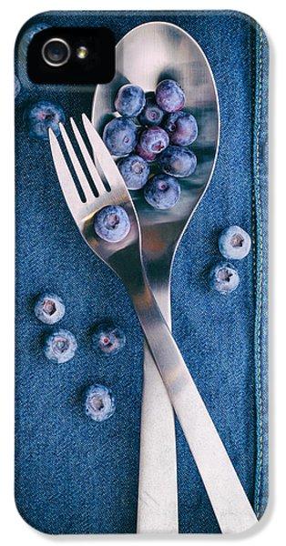 Blueberries On Denim II IPhone 5 / 5s Case by Tom Mc Nemar
