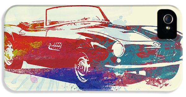 German Classic Cars iPhone 5 Cases - Bmw 507 iPhone 5 Case by Naxart Studio