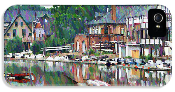 Boathouse Row In Philadelphia IPhone 5 / 5s Case by Bill Cannon
