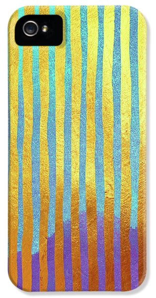 Bohemian Gold Stripes Abstract IPhone 5 / 5s Case by Tina Lavoie