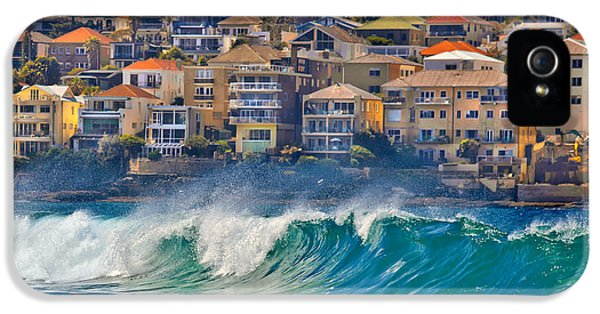 Glamorous iPhone 5 Cases - Bondi Waves iPhone 5 Case by Az Jackson
