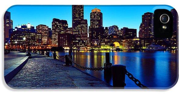 Boston iPhone 5 Cases - Boston Harbor Walk iPhone 5 Case by Rick Berk
