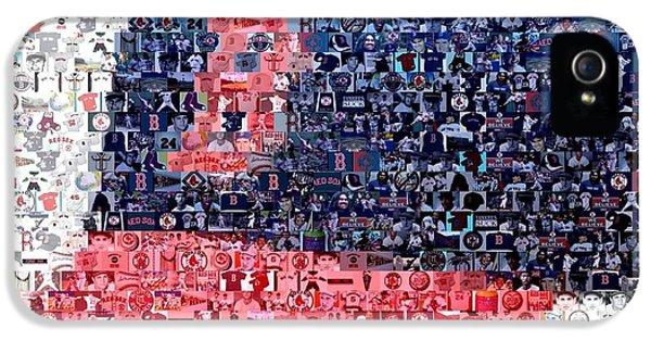 Boston Red Sox Cap Mosaic IPhone 5 / 5s Case by Paul Van Scott