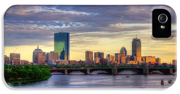 Boston Skyline Sunset Over Back Bay IPhone 5 / 5s Case by Joann Vitali