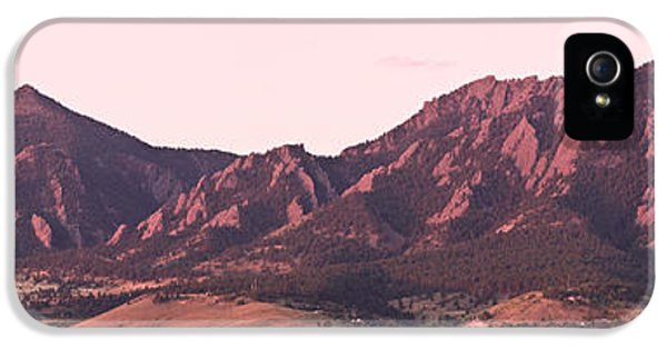 Boulder Colorado Flatirons 1st Light Panorama IPhone 5 / 5s Case by James BO  Insogna