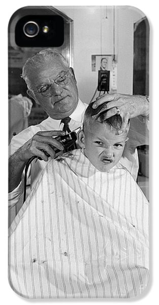 Boy Getting A Haircut, C.1950s IPhone 5 / 5s Case by B. Taylor/ClassicStock