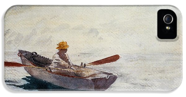 Homer iPhone 5 Cases - Boy in a Boat iPhone 5 Case by Winslow Homer