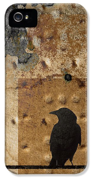 Montage iPhone 5 Cases - Braille Crow iPhone 5 Case by Carol Leigh