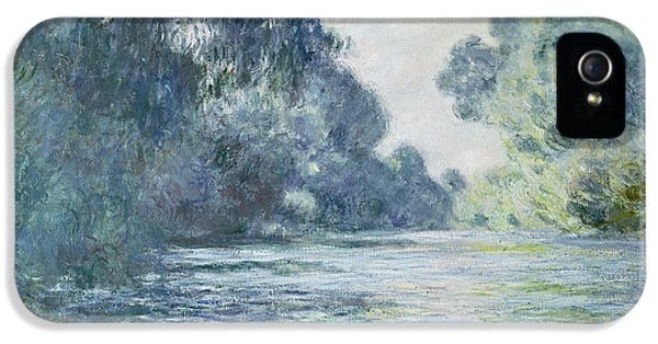 Blue iPhone 5 Cases - Branch of the Seine near Giverny iPhone 5 Case by Claude Monet