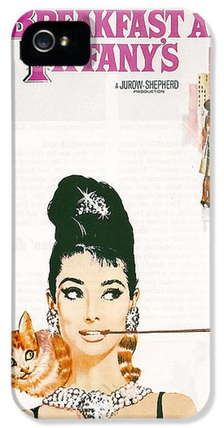 Motion Picture iPhone 5 Cases - Breakfast At Tiffanys iPhone 5 Case by Nomad Art And  Design