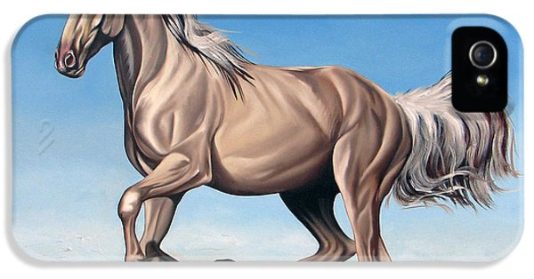 Horse iPhone 5 Cases - Breeze iPhone 5 Case by Ilse Kleyn
