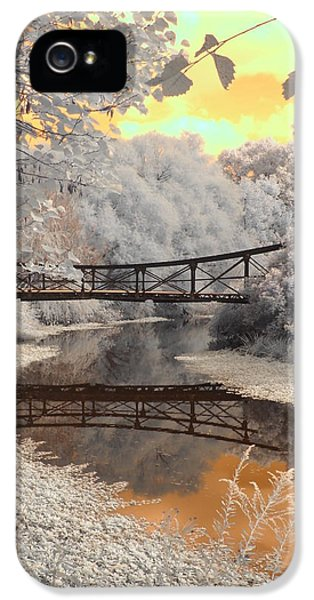 Infrared iPhone 5 Cases - Bridge Reflections iPhone 5 Case by Jane Linders