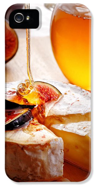 Backlight iPhone 5 Cases - Brie Cheese with Figs and honey iPhone 5 Case by Johan Swanepoel