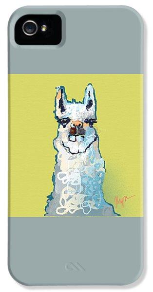 Bright Mustard Llama IPhone 5 / 5s Case by Niya Christine