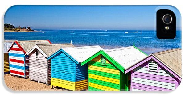 Hut iPhone 5 Cases - Brighton Beach Huts iPhone 5 Case by Az Jackson