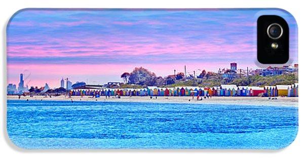 Hut iPhone 5 Cases - Brighton Beach Sunset iPhone 5 Case by Az Jackson