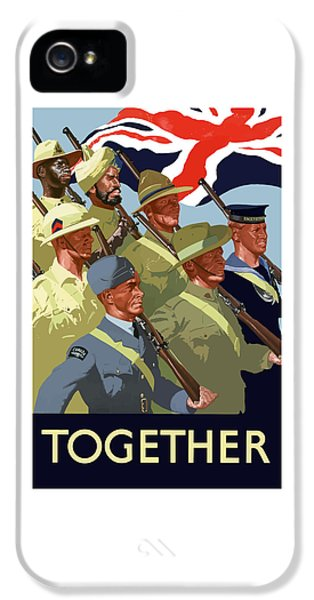 Political iPhone 5 Cases - British Empire Soldiers Together iPhone 5 Case by War Is Hell Store