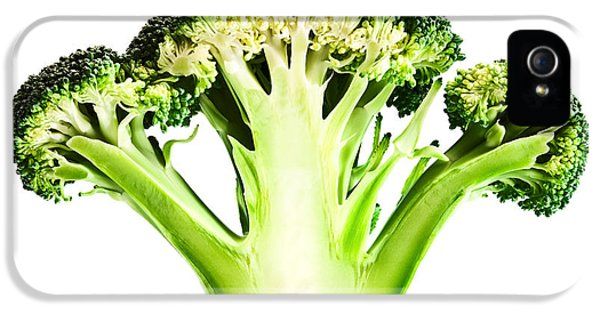 Reflective iPhone 5 Cases - Broccoli cutaway on white iPhone 5 Case by Johan Swanepoel