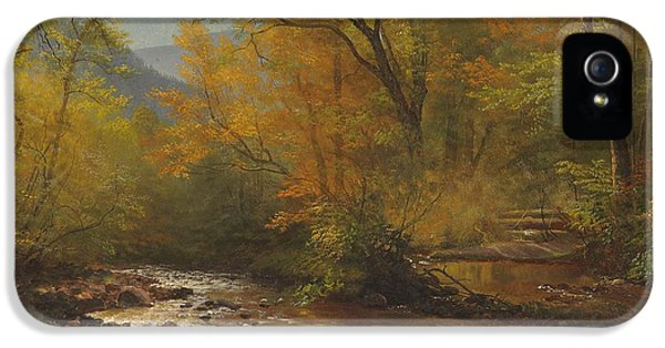 Brook In Woods IPhone 5 / 5s Case by Albert Bierstadt