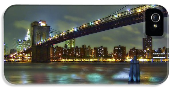 City iPhone 5 Cases - Brooklyn Bridge iPhone 5 Case by Evelina Kremsdorf
