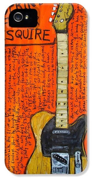 Born To Run iPhone 5 Cases - Bruce Springsteens Fender Esquire iPhone 5 Case by Karl Haglund