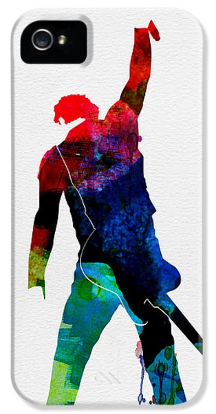 Springsteen iPhone 5 Cases - Bruce Watercolor iPhone 5 Case by Naxart Studio