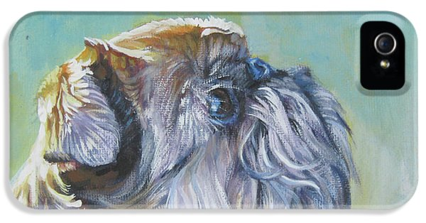 Brussels Griffon With Butterfly IPhone 5 / 5s Case by Lee Ann Shepard
