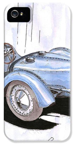 Bugatti Type 35 iPhone 5 Cases - Bugatti type 59 Gran Prix iPhone 5 Case by Domingo Gorriz