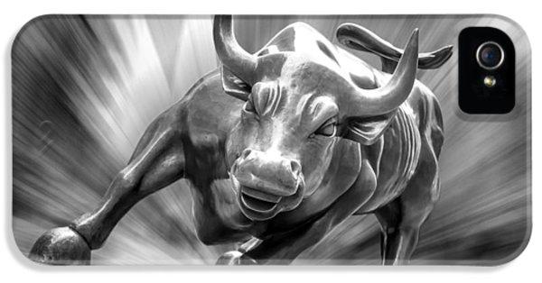 Bronze iPhone 5 Cases - Bull Market iPhone 5 Case by Az Jackson