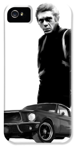 Bullitt Cool  Steve Mcqueen IPhone 5 / 5s Case by Iconic Images Art Gallery David Pucciarelli