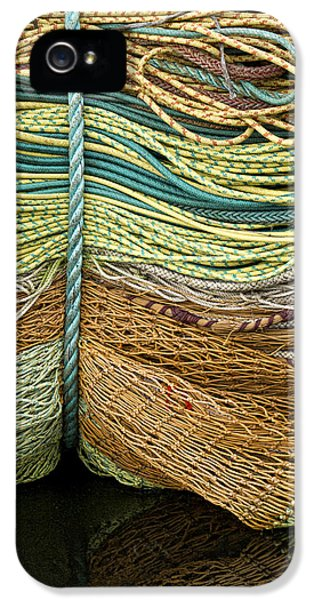 Oregon Coast iPhone 5 Cases - Bundle of Fishing Nets and Ropes iPhone 5 Case by Carol Leigh