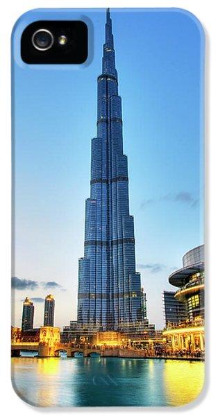Arab iPhone 5 Cases - Burj Khalifa Sunset iPhone 5 Case by Shawn Everhart